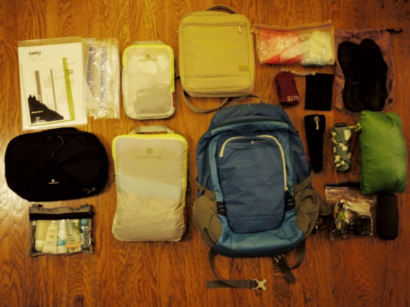 Backpack: before packing