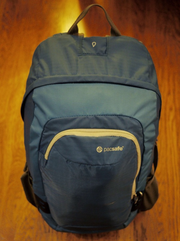 Backpack: after packing, front