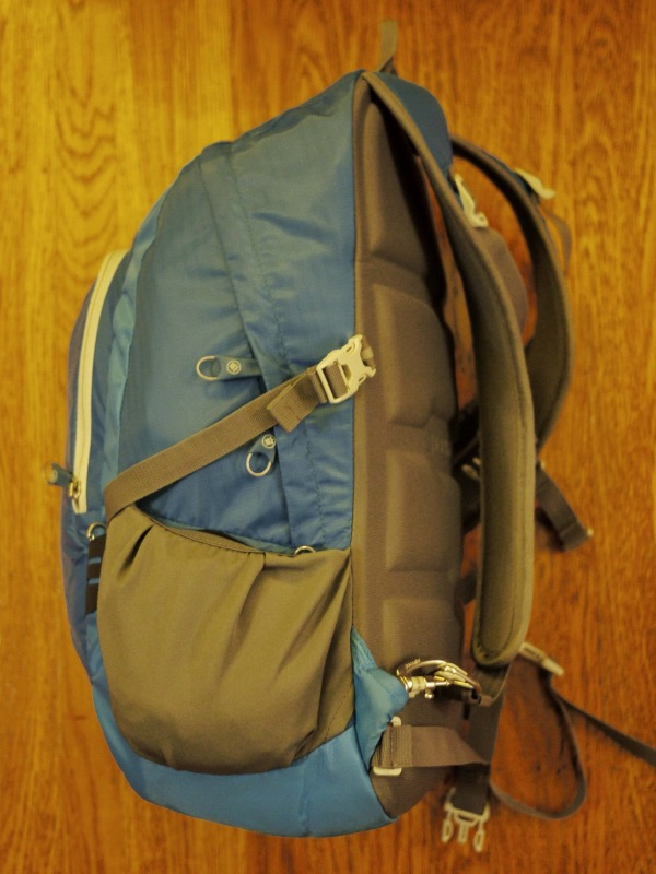 Backpack: after packing, side