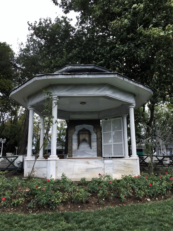 Beautiful, white gazebo
