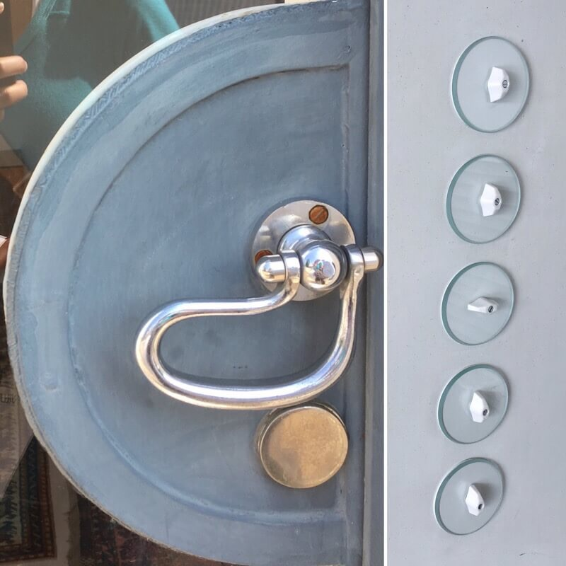 Door handle and light switches