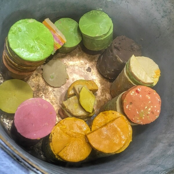 Multi-colored kulfi